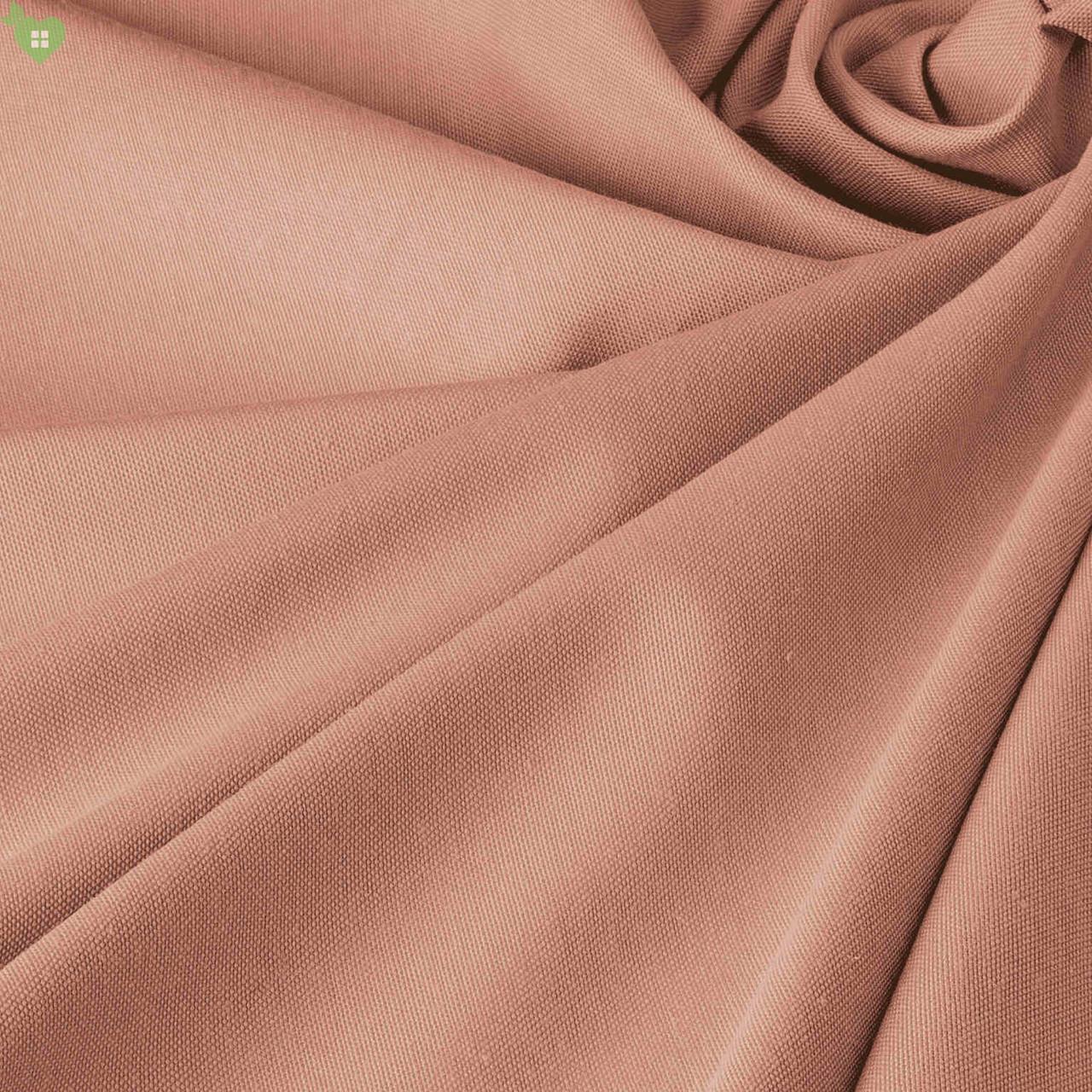 Однотонная декоративная ткань кремово-розового цвета Турция DRK-82554