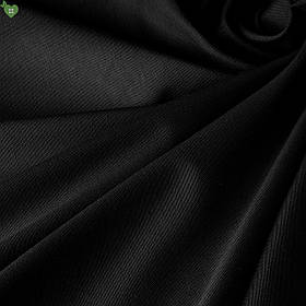 Однотонна декоративна тканина чорного кольору DR-81008