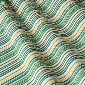 Декоративна тканина в смужку зелено-блакитного кольору з синім Туреччина 82788v71
