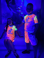 Летний детский сарафан светящийся TikTok