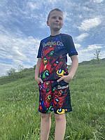 Летний детский костюм светящийся Among.US v2