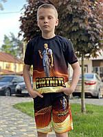 Летний детский костюм светящийся Fortnite