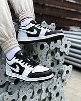 Air Jordan 1 Low white Black (кожа)