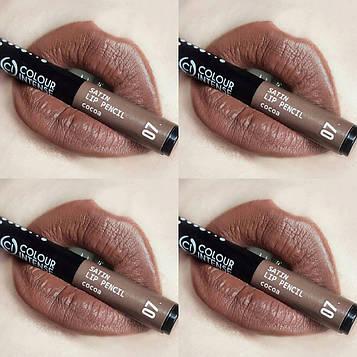 Олівець для губ механічний COLOUR INTENSE Satin Lip pencil №07 Cocoa
