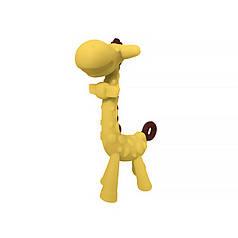 Прорезыватель силиконовый CUMENSS для зубов Giraffe Yellow для прорезывания зубов у грудничков с фруктами