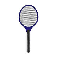 Електричний знищувач Lesko LS-005 Blue для мух, комарів мухобойка