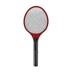 Електричний знищувач Lesko LS-005 Red для мух, комарів мухобойка для будинку