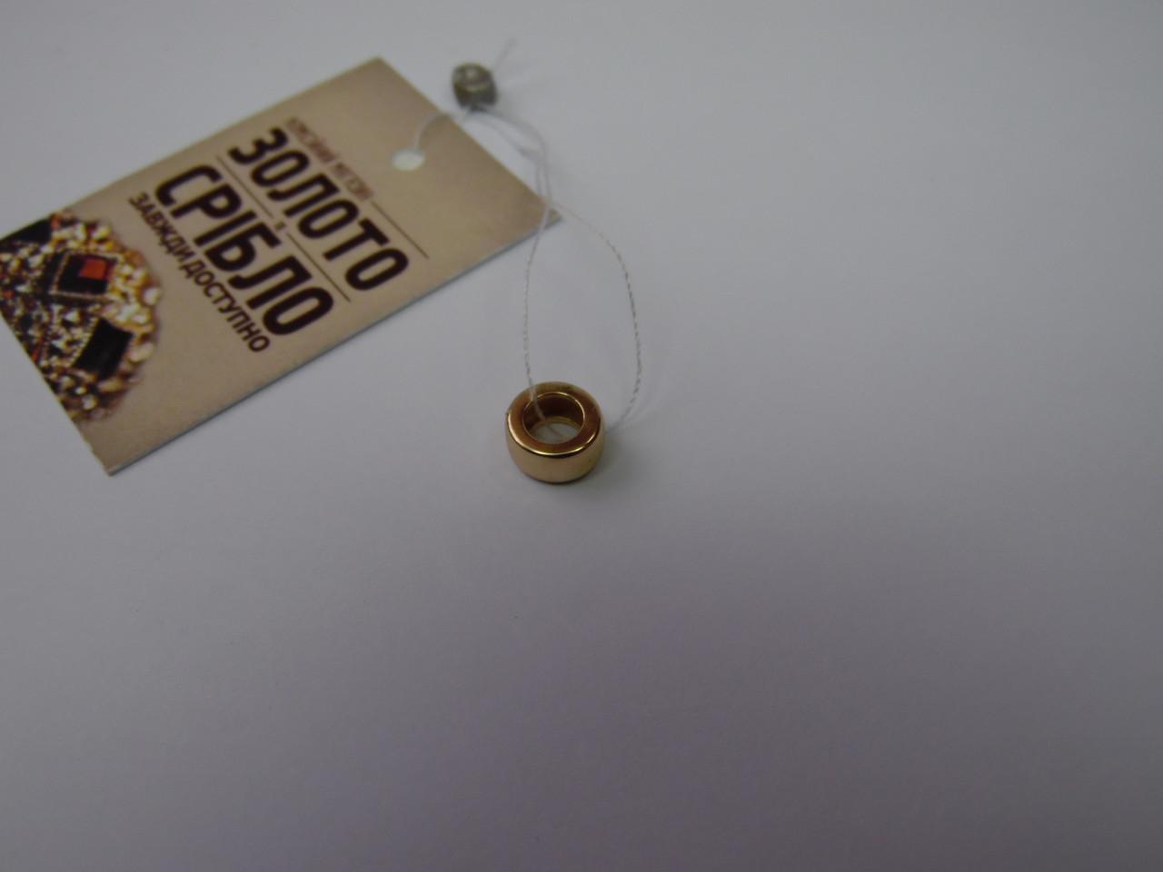 Золота жіноча підвіска, вагу 0,74 р.