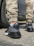 Кросівки чоловічі 18641, темно-сірі [ 42 43 45 ] р.(42-27,5 см), фото 4