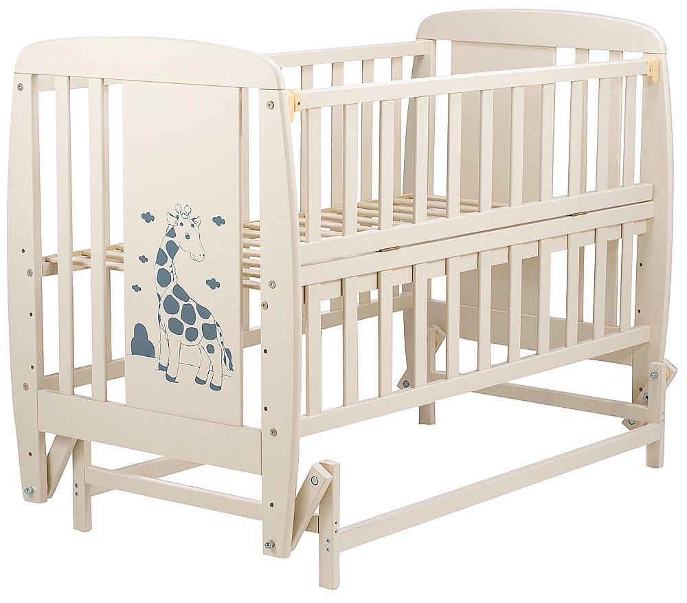 Ліжко Babyroom Жирафик маятник, відкидний пліч DJMO-02 бук слонова кістка
