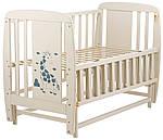 Ліжко Babyroom Жирафик маятник, відкидний пліч DJMO-02 бук слонова кістка, фото 3