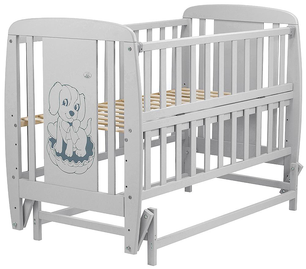 Кровать Babyroom Собачка маятник, откидной бок DSMO-02 бук серый