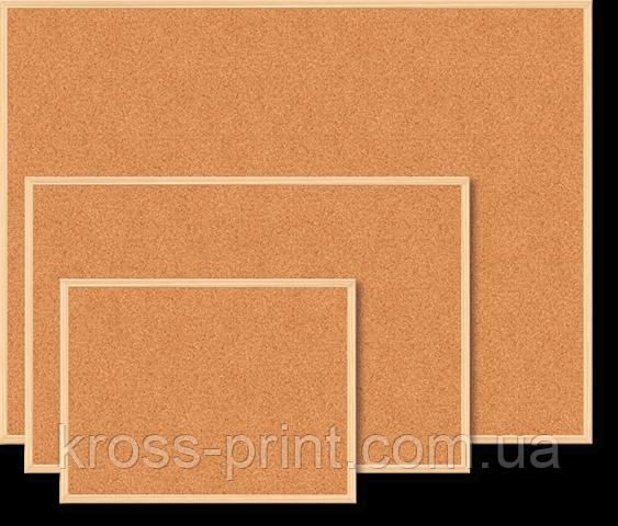 Дошка пробкова, JOBMAX, 60x90 см, дерев'яна рамка