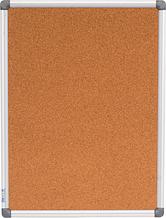 Доска пробковая, 45x60см, вертикальная, алюминиевая рамка