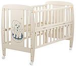 Кровать Babyroom Собачка откидной бок, колеса DSO-01 бук слоновая кость, фото 2