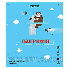 Предметная тетрадь Kite Pixel K21-240-13, 48 листов, клетка, география