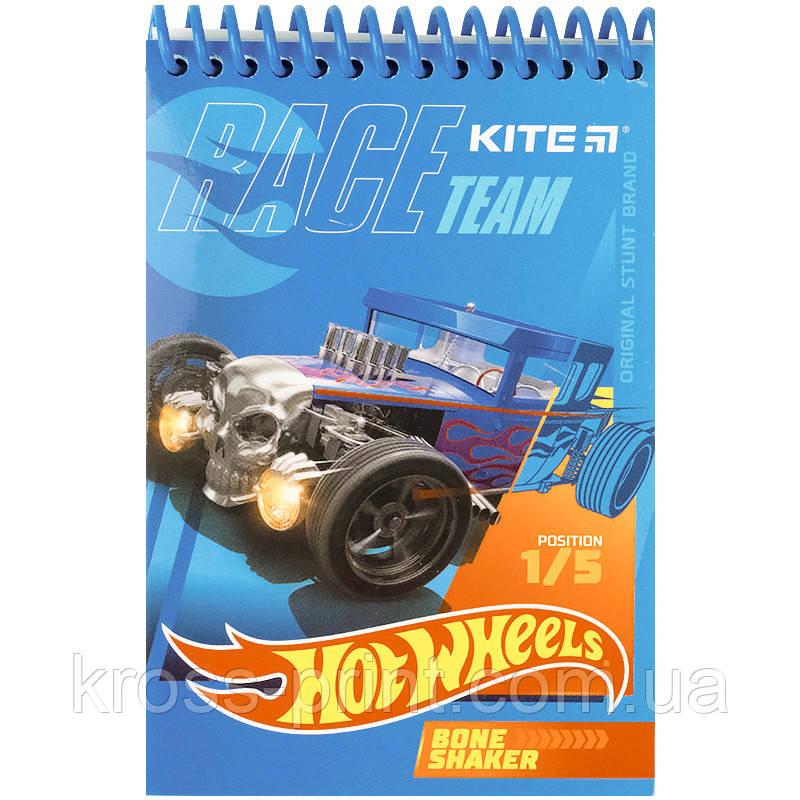 Блокнот пластиковий Kite Hot Wheels HW21-196, А6, 48 аркушів, нелинованный