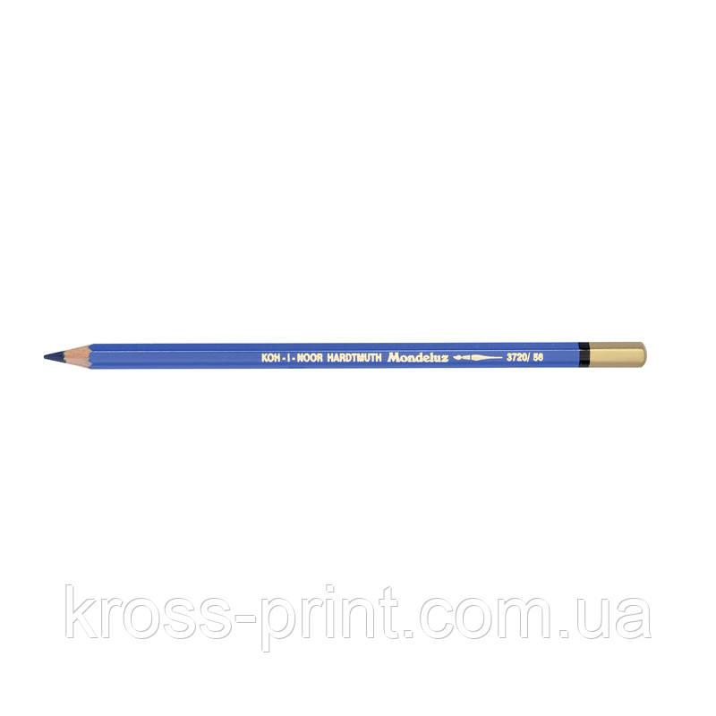 Олівець акварельний MONDELUZ indigo blue/індиго синій