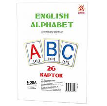 Великі навчальні картки Букви Англійські 72949 А 5 200х150 мм