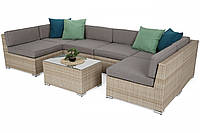 Садовый диван + стол Kansas Maxi Beige / Beige Melange  бежевый