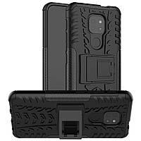 Чохол Armor для Motorola Moto E7 Plus бампер протиударний з підставкою Black
