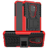 Чохол Armor для Motorola Moto E7 Plus бампер протиударний з підставкою Red