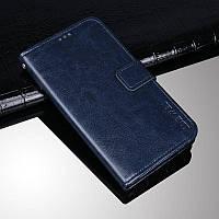 Чехол Idewei для OPPO A15S книжка кожа PU с визитницей синий
