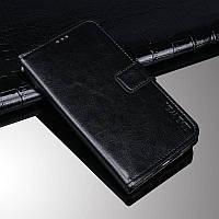 Чехол Idewei для OPPO A15S книжка кожа PU с визитницей черный