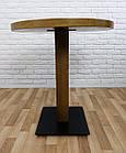 """Дерев'яний круглий стіл """"UNO-4"""" для кафе і стілець 1+1, фото 6"""