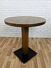 """Дерев'яний круглий стіл """"UNO-4"""" для кафе і стілець 1+1, фото 8"""