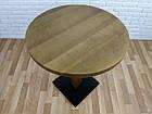 """Дерев'яний круглий стіл """"UNO-4"""" для кафе і стілець 1+1, фото 9"""