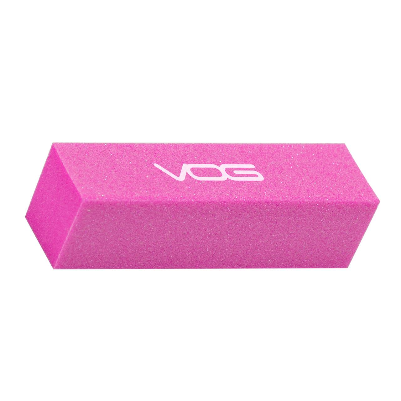 Баф для шлифовки ногтей абразивность 200/240 Розовый VOG США