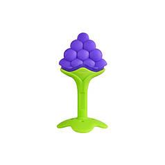 Прорезыватель силиконовый CUMENSS Grapes для зубов грудничков с фруктами Fruit виноград