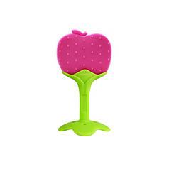 Прорезыватель силиконовый CUMENSS Apple для зубов грудничков с фруктами Fruit яблоко