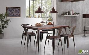 Обідній комплект меблів AMF стіл Floyd стільці Marley для кухні кафе