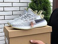 Чоловічі кроссовки Adidas Yeezy Boost 350 v2 Lime/gray, фото 1
