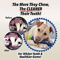Силиконовая игрушка самоочищающаяся зубная щетка косточка Chewbrush для чистки зубов собак, фото 9