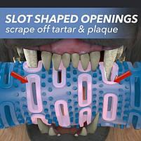 Силиконовая игрушка самоочищающаяся зубная щетка косточка Chewbrush для чистки зубов собак, фото 10