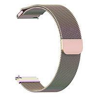 Магнитный ремешок Milanese Loop для Huawei GT 2e (HCT-B19)   DK   22 мм   радужный