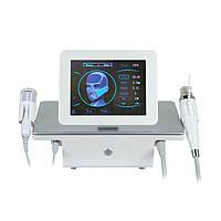 Апарат 2 в 1 Микроигольчатый РФ + холодний ударний масажер для омолодження шкіри, мікро RF Fraction 3 картриджа