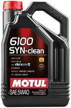 Моторное масло Motul 6100 SYN-CLEAN 5W-40  854250  4 л.