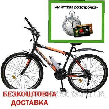 "Велосипед Spark Ride Romb V.21 26"" стальная рама 18"", черный с оранжевым"