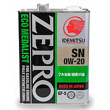 Моторное масло IDEMITSU ZEPRO Ecomedalist SN/GF-5 0W-20  4л