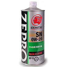 Моторне масло IDEMITSU ZEPRO Ecomedalist SN/GF-5 0W-20 1л