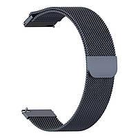 Магнитный ремешок Milanese Loop для Huawei GT 2e (HCT-B19)   DK   22 мм   серый