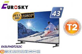 EuroSky E43LFHDT2S2C LED 1920x1080 60Hz, DVB-T2, HDMI, USB, Vesa 200x200
