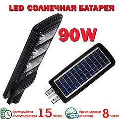 LED уличный светильник на солнечной батарее VARGO 90W с датчиком движения (VS-337)