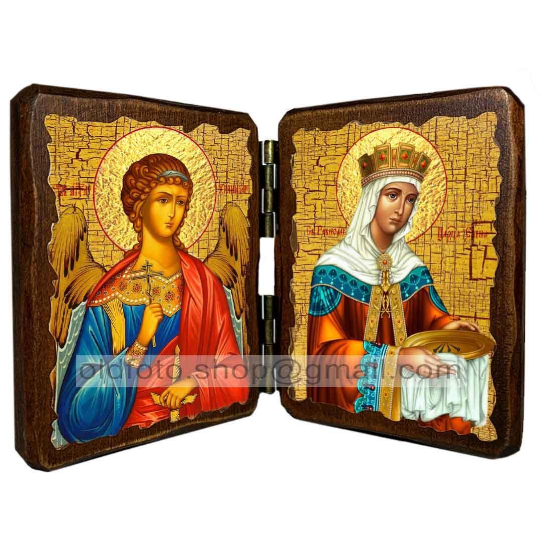 Ікона Олена Константинопольська Рівноапостольна Цариця ,ікона на дереві 130х170 мм