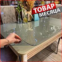 Защитная силиконовая ПВХ пленка мягкое стекло толщина 2 мм Прозрачная силиконовая скатерть пвх гибкое стекло