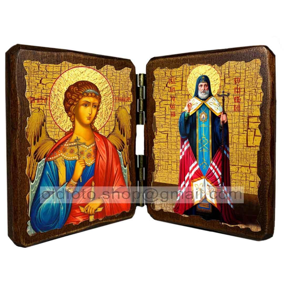 Икона Митрофан епископ Воронежский Святитель ,икона на дереве 260х170 мм